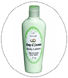 hemp and coconut lotion